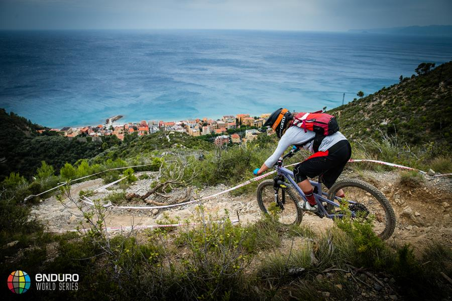 Sarah Leishman in stage four. EWS round 8, Finale Ligure, Italy. Photo by Matt Wragg.