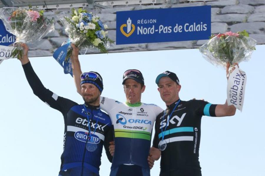 Bild Roubaix 2 - Die Sieger- Hayman,Boonen, Stannard